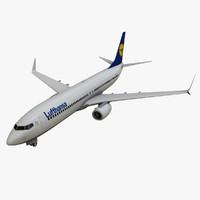 lufthansa boeing 737-800 3d max