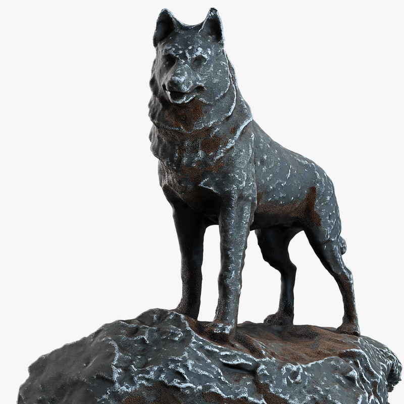 dog haskey statue max
