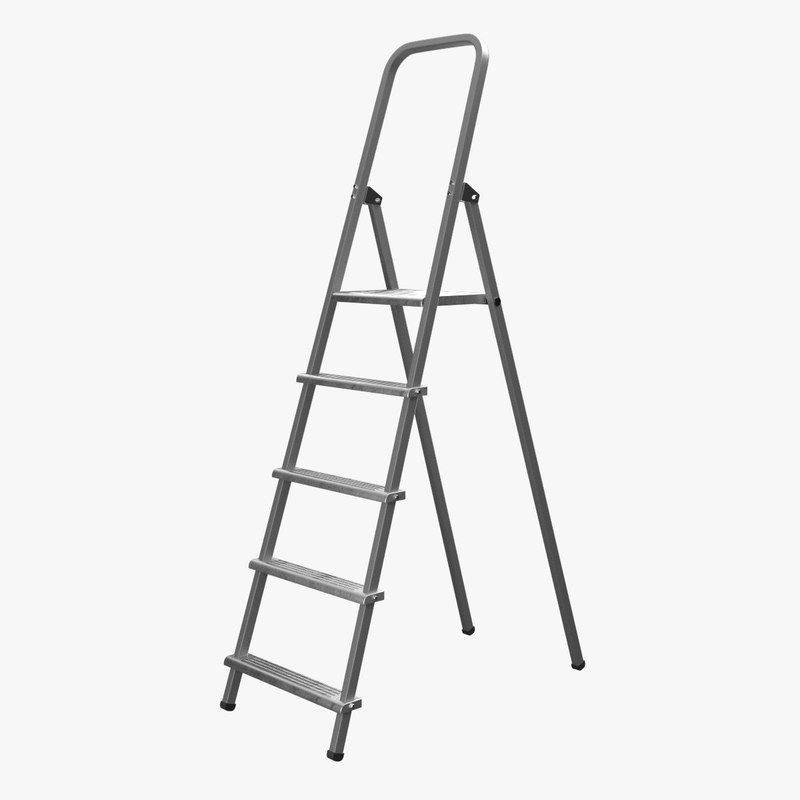 step ladder 2 3d model