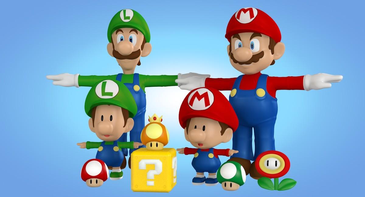 3d characters mario bros model