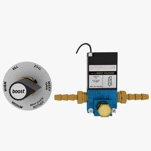 boost solenoid dial 3d max