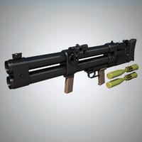 3d max dp-64 nepryadva grenade launcher