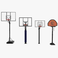 3d model basketball hoops