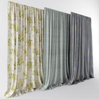 3d ethnic interiors curtains