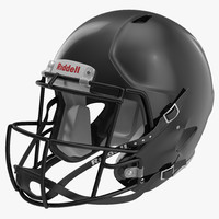 Football Helmet 3 Riddell Black