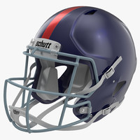 football helmet schutt blue 3d model