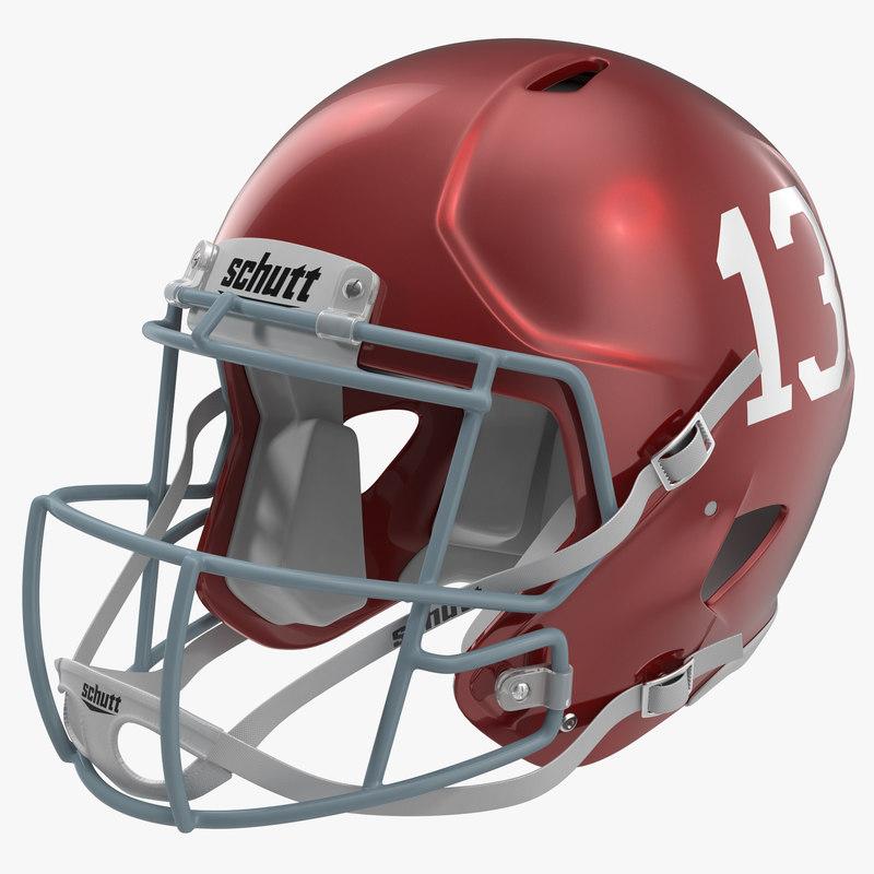 obj football helmet schutt red