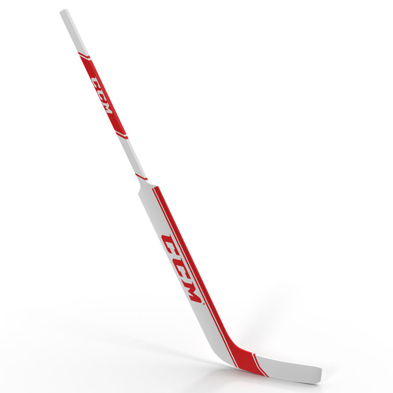 goalie hockey stick ccm 3d model