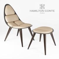 Hamilton Conte Paris Vadim Chair and Ottoman