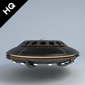 3d ufo lighting