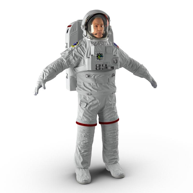 astronaut nasa extravehicular mobility 3ds