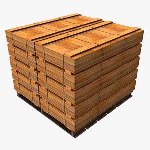 maya pallet wooden crates