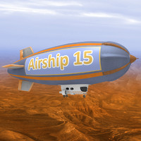 3d model dirigible airship