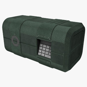 3d model of portable security case
