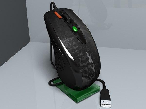 laser mouse a4tech x7f5 3d model