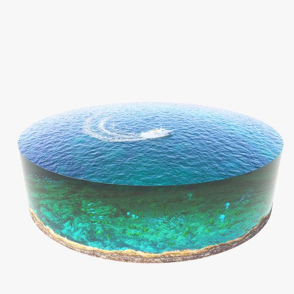 3ds max diorama ocean underwater