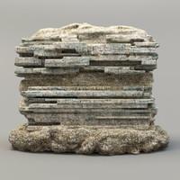 3ds max stone rock