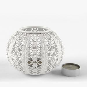 3d model of tealight holder