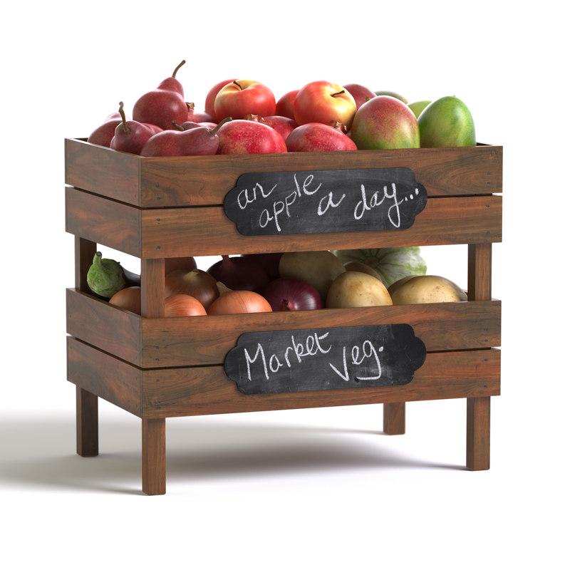 crates fruit vegetables max
