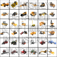 3d 39 industrial details machines model