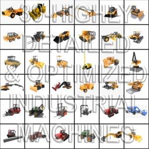 3d 39 industrial details machines model
