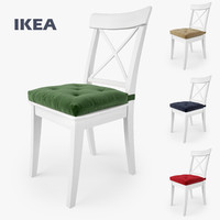 IKEA Ingolf Chair and Malinda Cushion