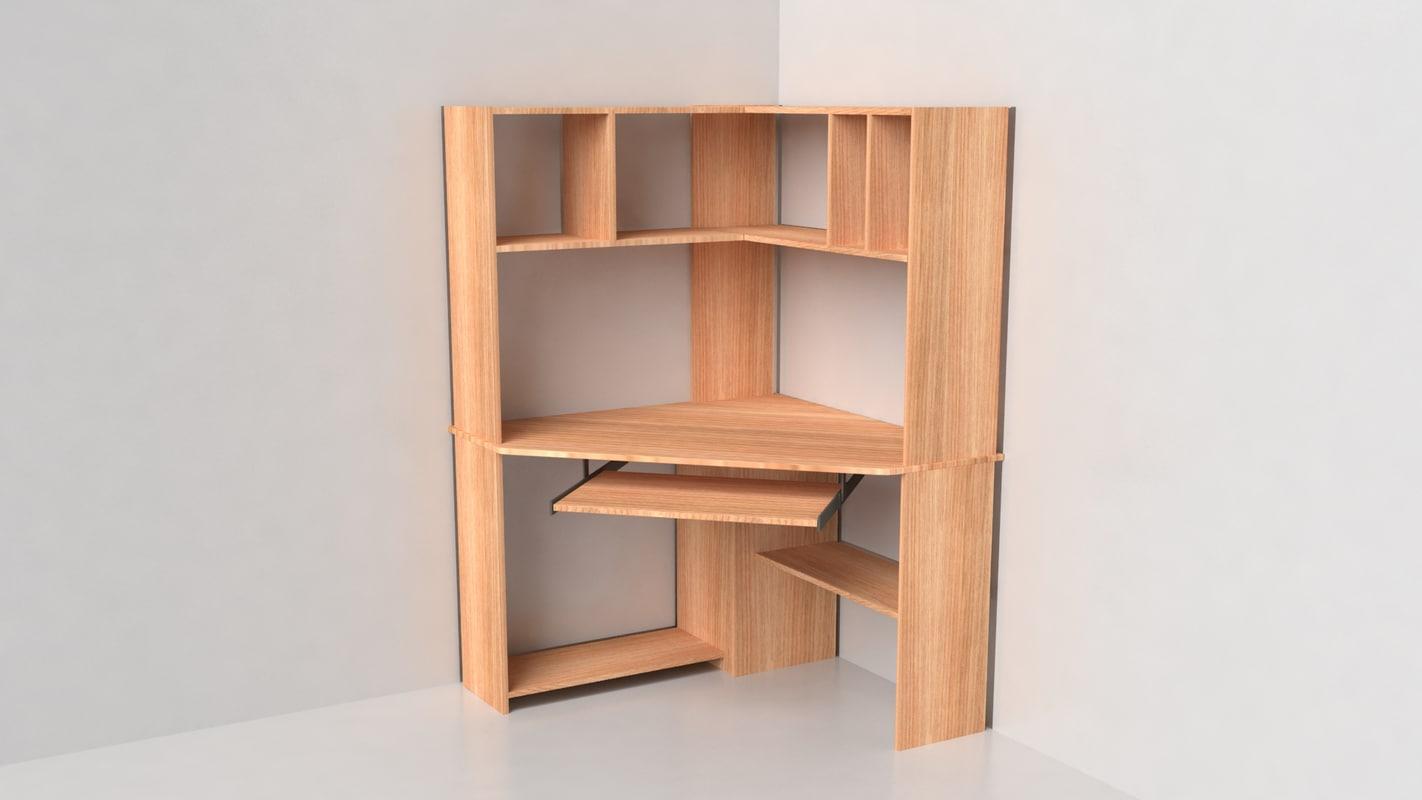 corner desk 3d model