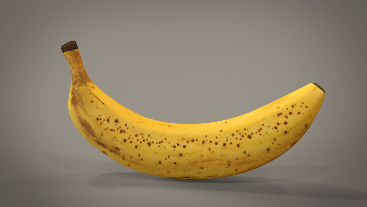3d model photorealistic old banana