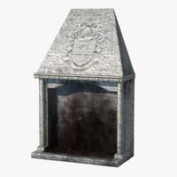 3ds medieval fireplace