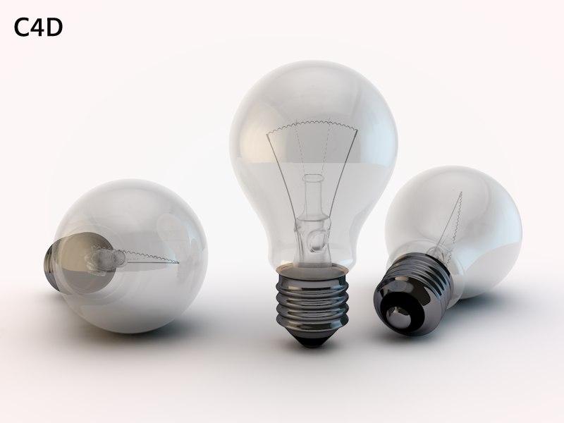 bulb render 3d model