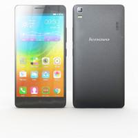 Lenovo A7000 Onyx Black & White