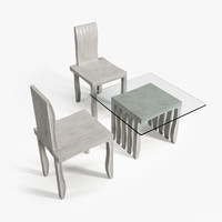 3d model artek 10-unit chair