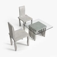 3d model artek 10-unit chair