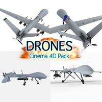 drone aircraft atomics 3d c4d