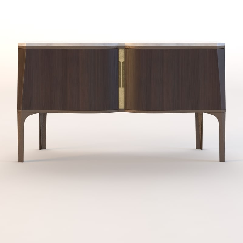 3d model classic luxury credenza
