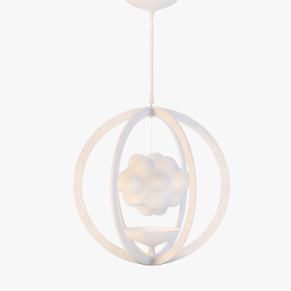 magritte illuminated pendant 3d 3ds