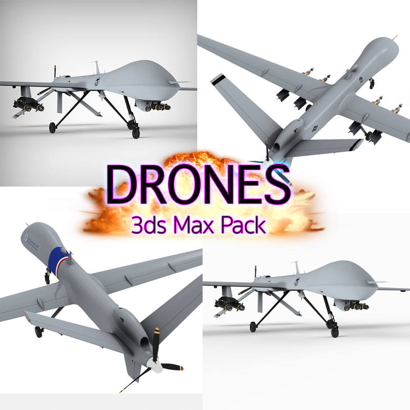 drone aircraft general 3d model
