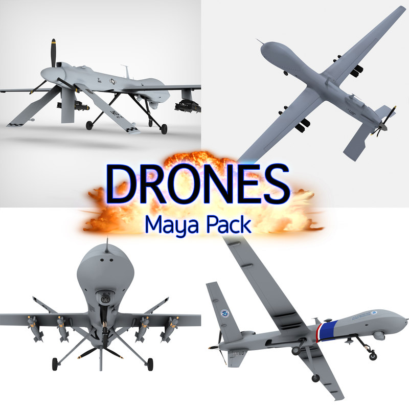 3d drone aircraft general