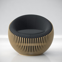 baton chair 3d max
