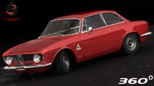 3d model alfa romeo gta 1965