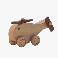 Kids Wooden Copter toy