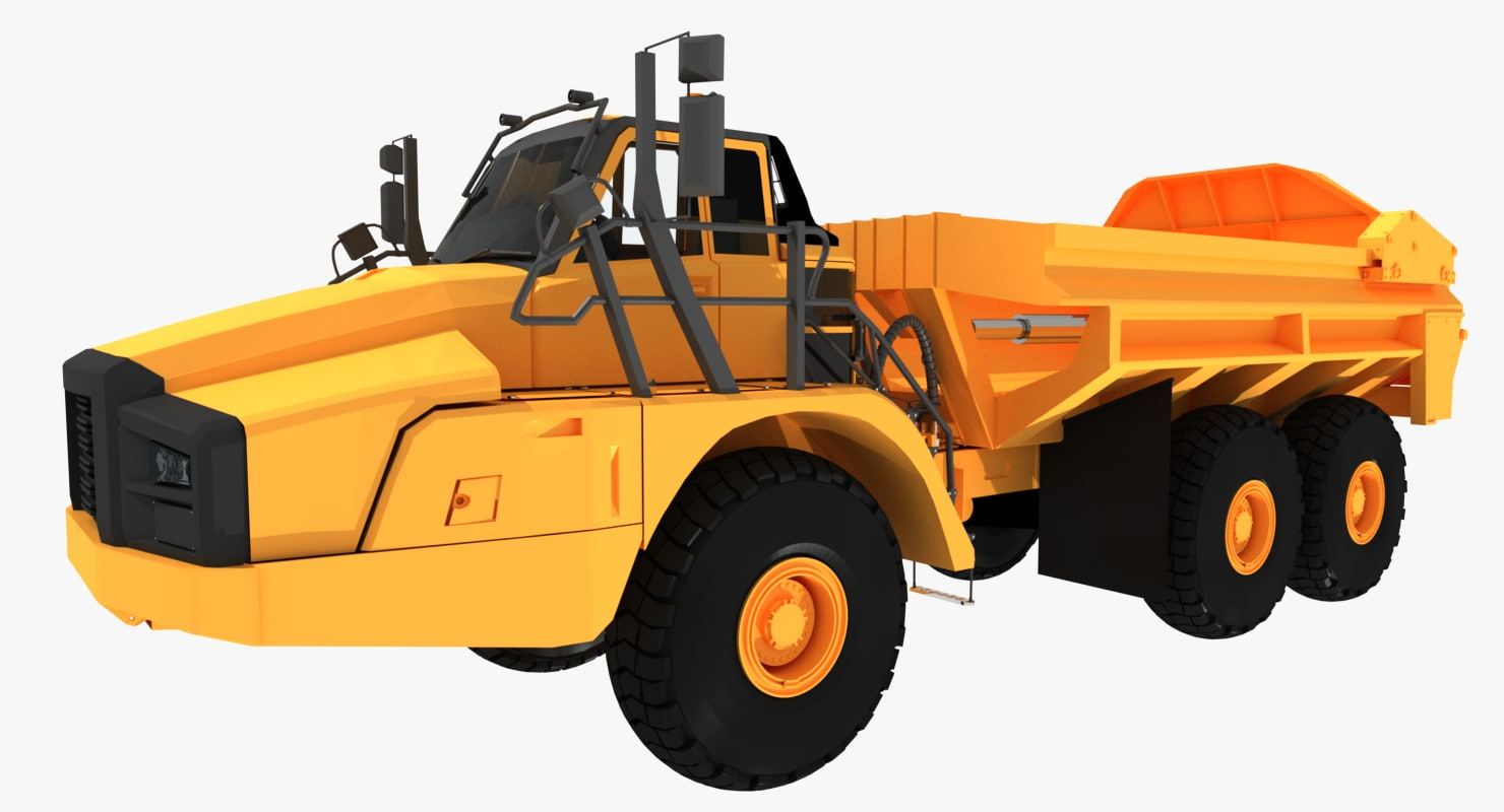 3ds max articulated hauler truck vehicle