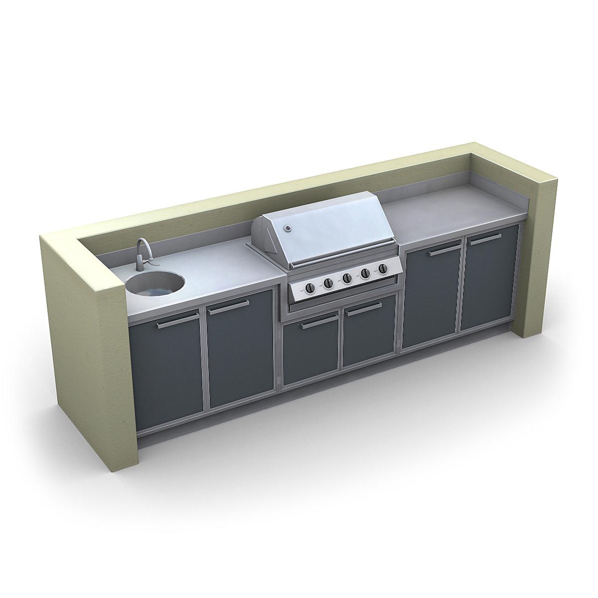 outdoor kitchen 3d lwo