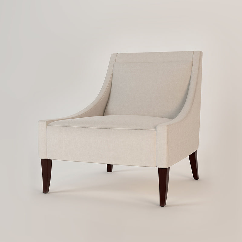 baker tivoli lounge chair 3d model
