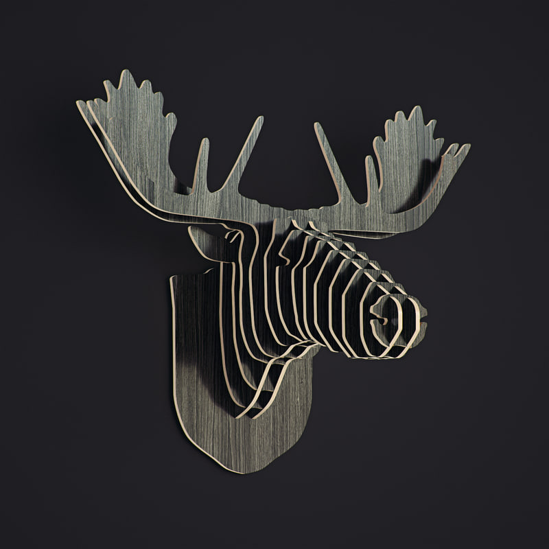 nordic wooden wall 3d model