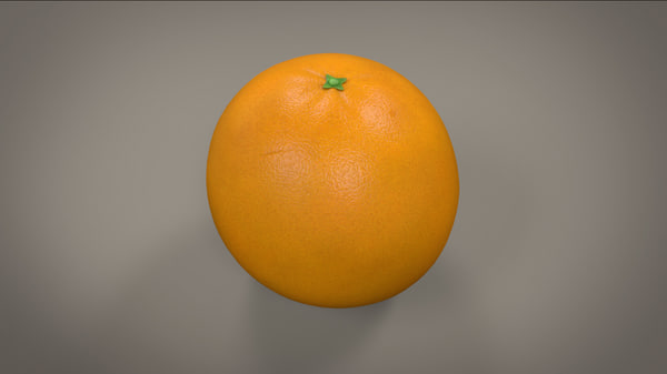 3d model photorealistic orange