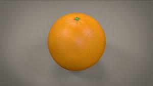 3d model photorealistic orange