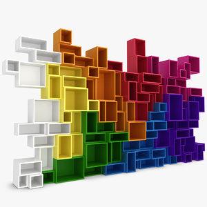 3d model modular shelving