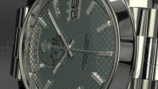 rolex day date 3d model