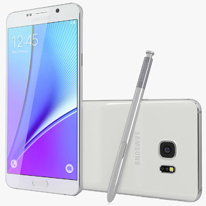 realistic galaxy note5 white 3d model